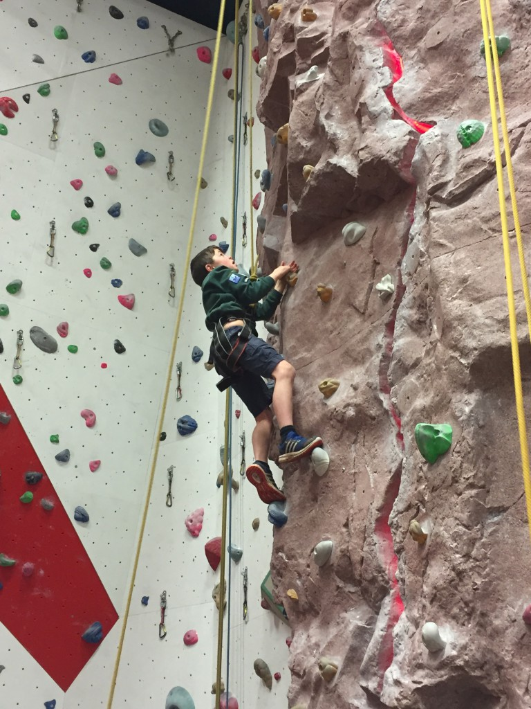 Cubs Invested While Rock Climbing 7th Bristol Scout Group